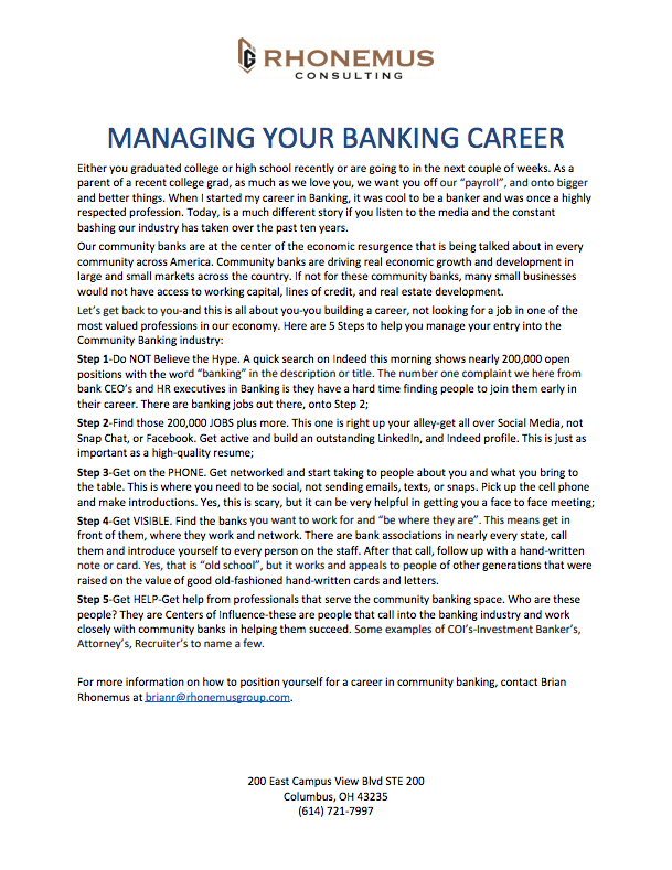 career management white paper