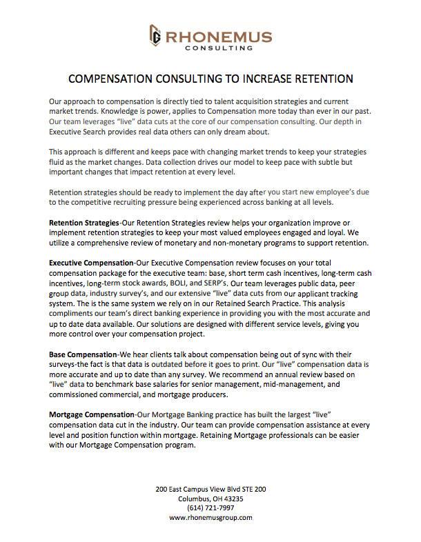 Compensation consulting white paper