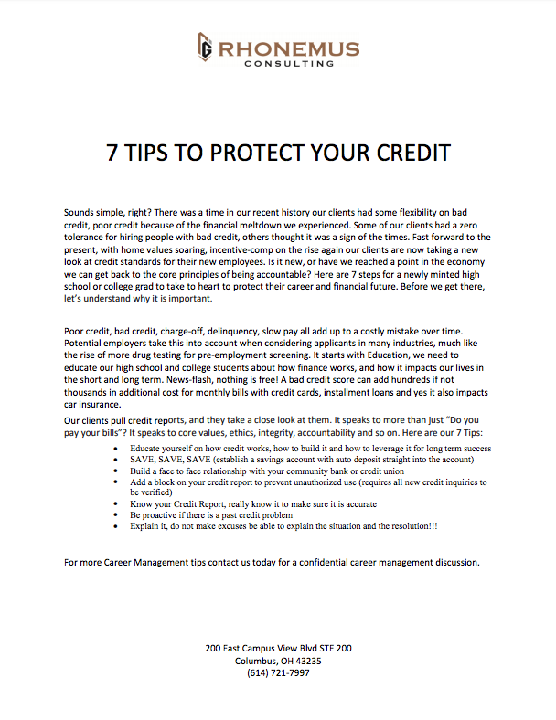 Protect your credit PDF